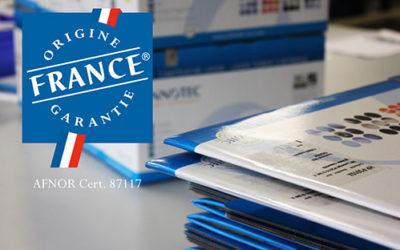 Certification Origine France Garantie des cartouches INNOTEC